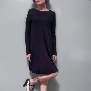 BLACK BEAD: Long Sleeve Dress With Back Cut Out